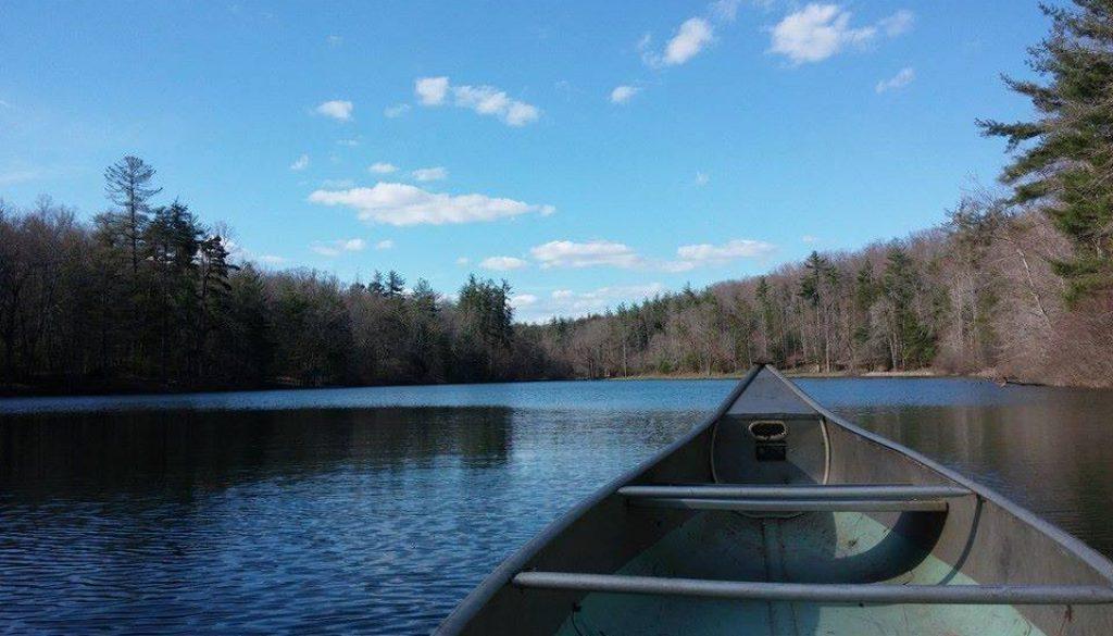 canoe on Lake Ozone