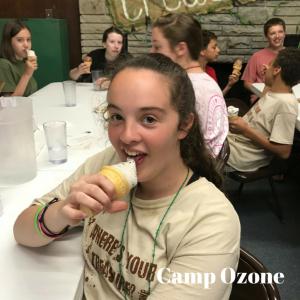 Camp Ozone ice cream cones