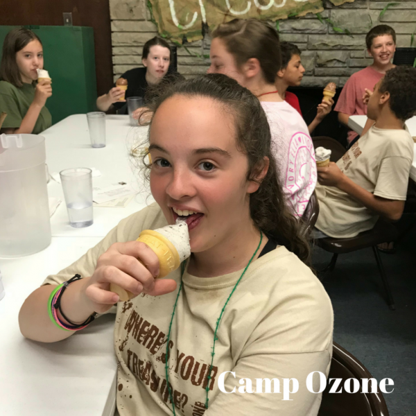 Camp Ozone ice cream cones